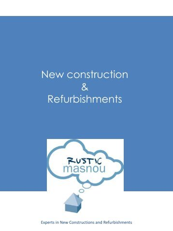 New construction & Refurbishments