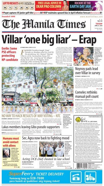 Comelec rethinks manual poll count Sec. Agra now back to fighting ...