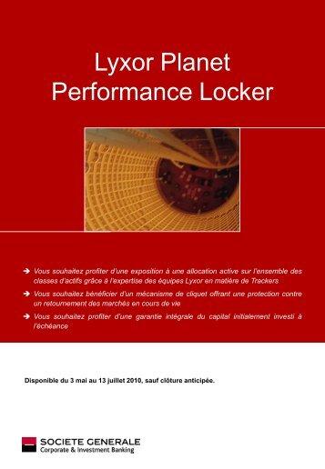 Lyxor Planet Performance Locker - Proximedia