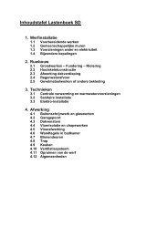 Inhoudstafel Lastenboek SD - Proximedia
