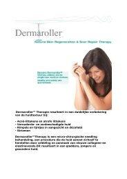 Dermaroller™ Therapie resulteert in een duidelijke ... - Proximedia