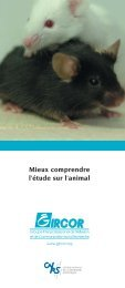 Mieux comprendre l'étude sur l'animal - CNRS-SDV - Ethique ...