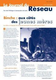Le Journal du Réseau (n° 25 - janvier 2007) - Question santé