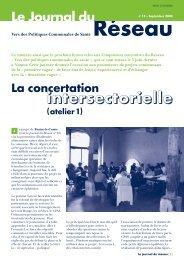 Le Journal du Réseau (n° 15 - septembre 2004) - Question santé