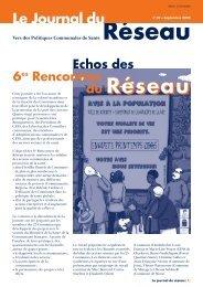 Le Journal du Réseau (n° 20 - septembre 2005) - Question santé