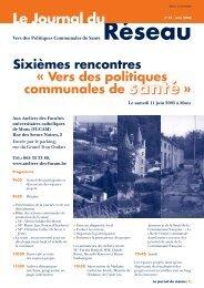 Le Journal du Réseau (n° 19 - juin 2005) - Question santé