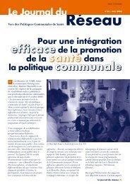 Le Journal du Réseau (n° 23 - juin 2006) - Question santé