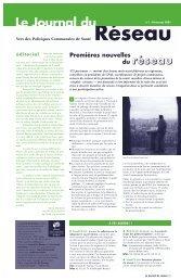 Le Journal du Réseau - Question santé