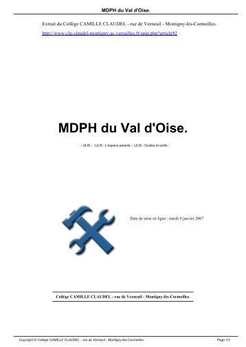 MDPH du Val d'Oise. - Collège CAMILLE CLAUDEL