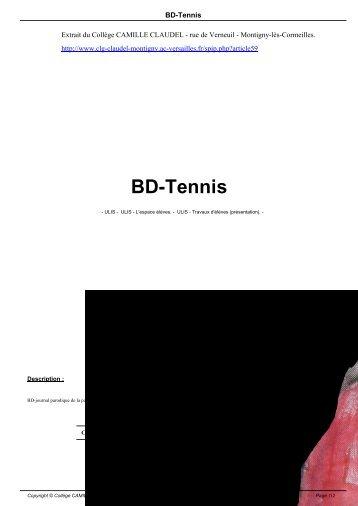 BD-Tennis - Collège CAMILLE CLAUDEL