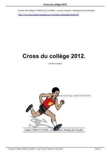 Cross du collège 2012. - Collège CAMILLE CLAUDEL