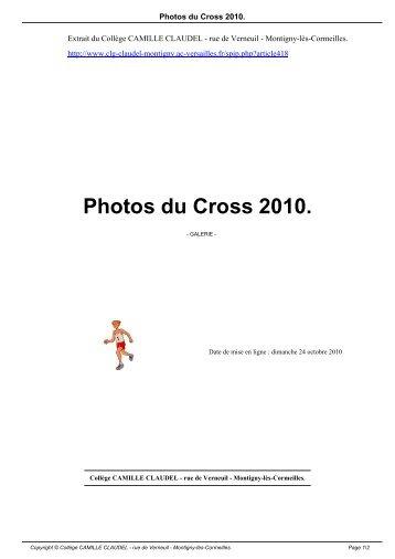 Photos du Cross 2010. - Collège CAMILLE CLAUDEL