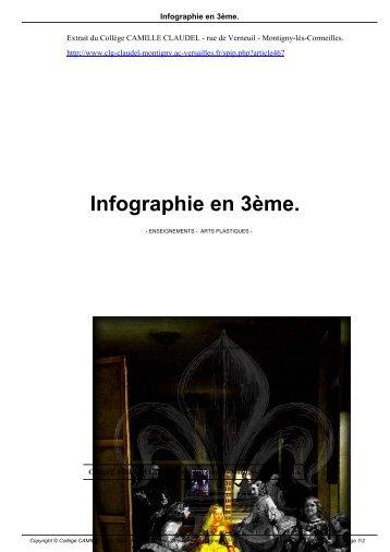 Infographie en 3ème. - Collège CAMILLE CLAUDEL