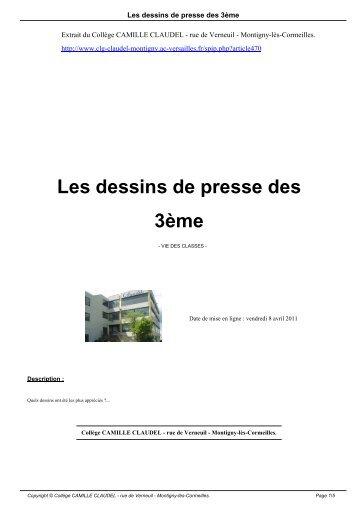 Les dessins de presse des 3ème - Collège CAMILLE CLAUDEL