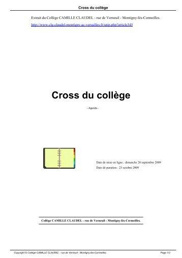 Cross du collège - Collège CAMILLE CLAUDEL