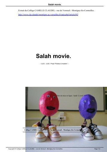 Salah movie. - Collège CAMILLE CLAUDEL