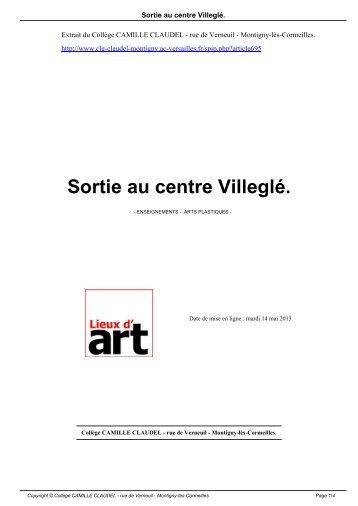 Sortie au centre Villeglé. - Collège CAMILLE CLAUDEL