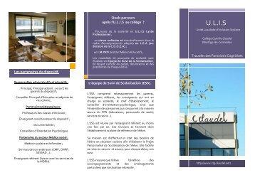U.L.I.S - Collège CAMILLE CLAUDEL