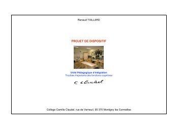 PROJET DE DISPOSITIF - Collège CAMILLE CLAUDEL