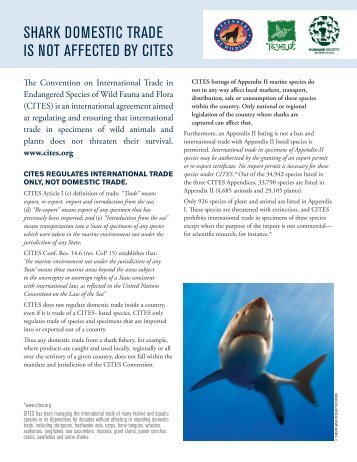 sHarK DoMesTiC TraDe is noT aFFeCTeD bY CiTes