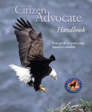 Advocate Handbook.qxp - Defenders of Wildlife