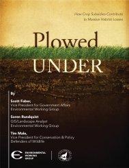 Plowed Under - Environmental Working Group