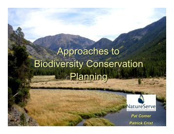 Approaches to Biodiversity Conservation Planning - Defenders of ...