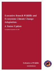 Executive Branch Ecosystem Climate Change Adaptation