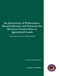 An Assessment of Performance-Based Indicators and Payments for ...