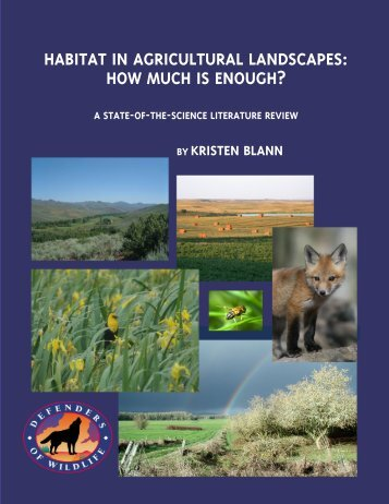 habitat in agricultural landscapes: how much is enough?