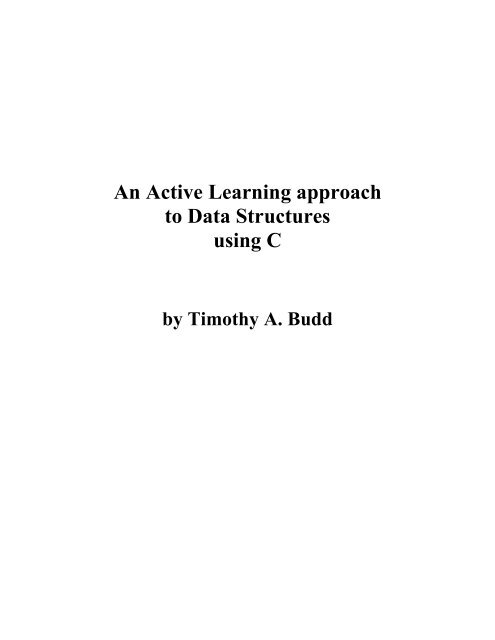 An Active Learning approach to Data Structures using C - Classes