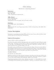CS 311 Project 1: UNIX File I/O - Classes