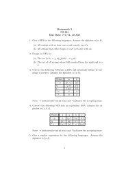 Homework 2 CS 321 Due Date: 7/7/11, 10 AM 1. Give a ... - Classes