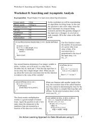 Worksheet 8: Searching and Asymptotic Analysis - Classes