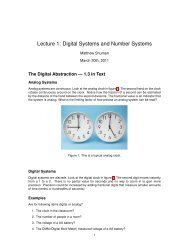 Lecture 1: Digital Systems and Number Systems - Classes