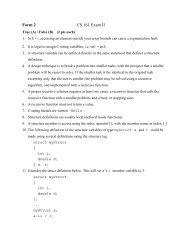 Form 2 CS 161 Exam II - Classes