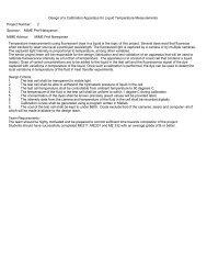 Full Project Descriptions - Classes