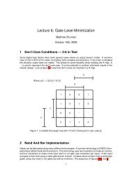 Lecture 6: Gate-Level Minimization - Classes