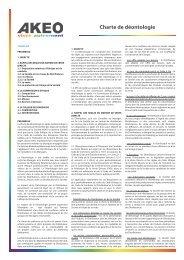 Charte de déontologie - Akeo