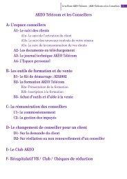 AKEO Télécom et les Conseillers A- L'espace conseillers B- Les ...