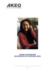 Guide d'utilisation des services de téléphonie - Akeo