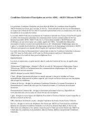 Conditions Générales d'Inscription au service ADSL –AKEO ...