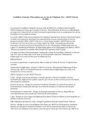 Conditions Générales d'Inscription aux services de ... - Akeo