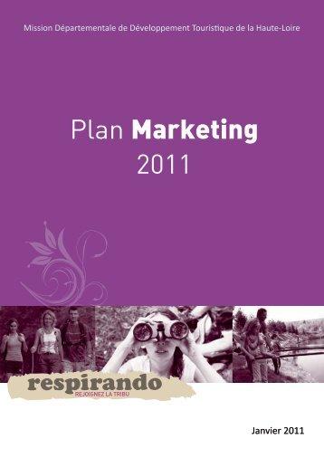 Plan Marketing 2011 - Vacances en Auvergne
