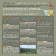 En Haute-Loire, un patrimoine volcanique d'exception !