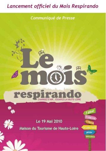 Le Mois Respirando - Vacances en Auvergne