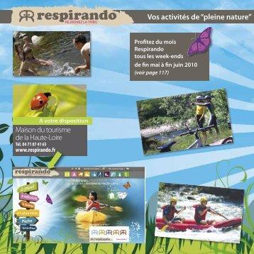 """Vos activités de """"pleine nature"""" - Vacances en Auvergne"""