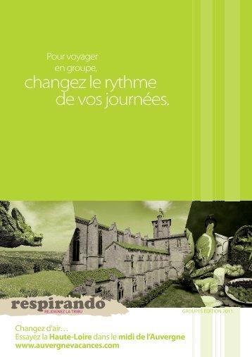 de réservation - Vacances en Auvergne
