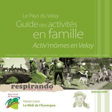 Guidedes activités - Vacances en Auvergne