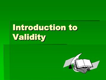 Validity Inference & Sampling